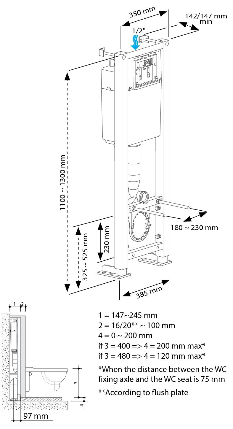 BCU 350 technical drawings