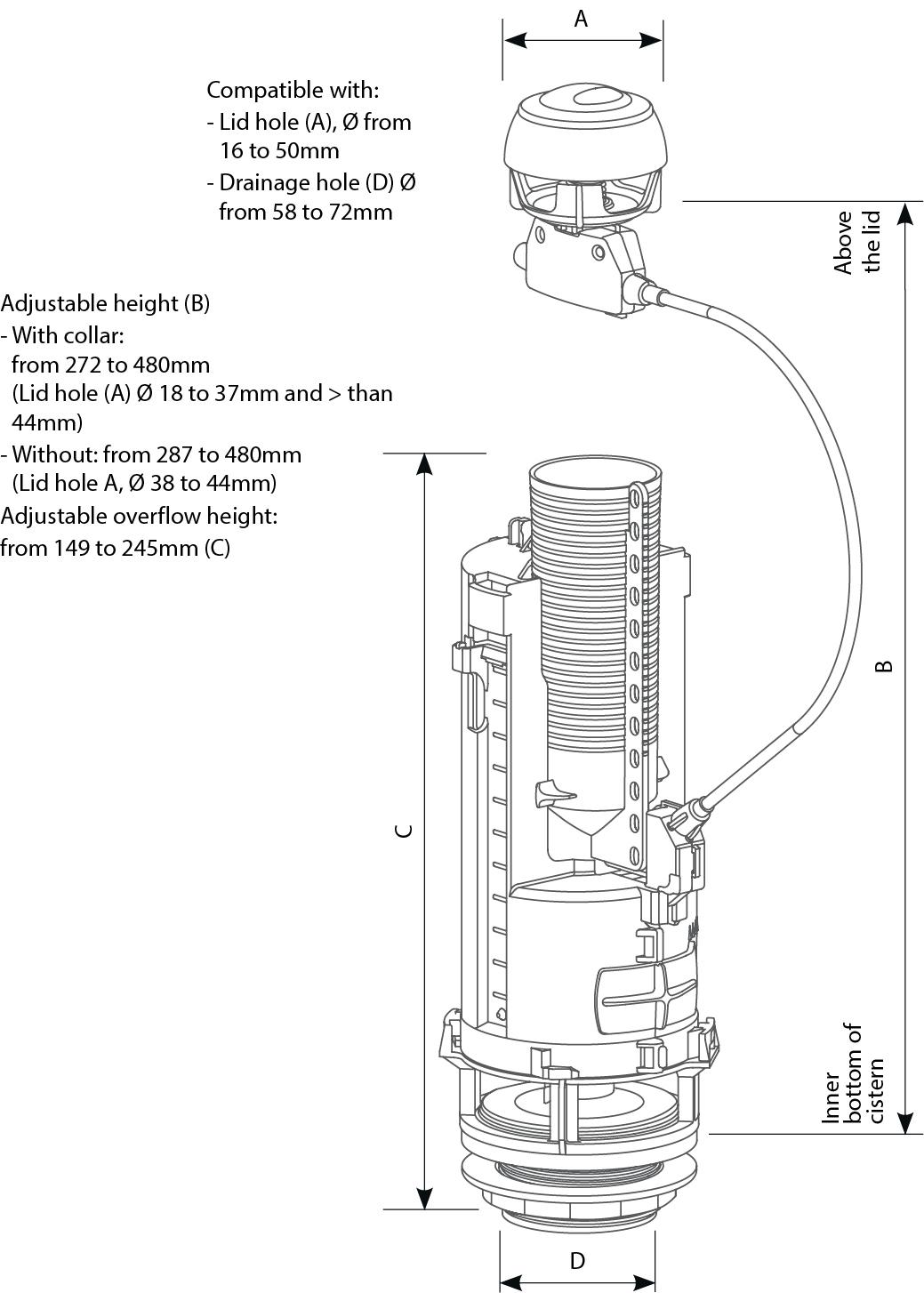 Optima 50 technical drawings