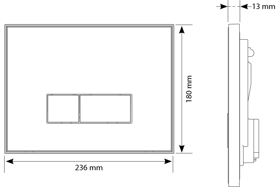 Reflet 90 technical drawings