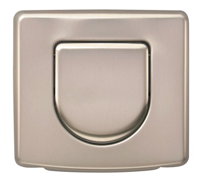 Monovolume anti-vandal flush plate